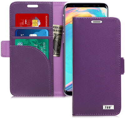 FYY Galaxy S9 Handmade Genuine Leather Case with Kickstand