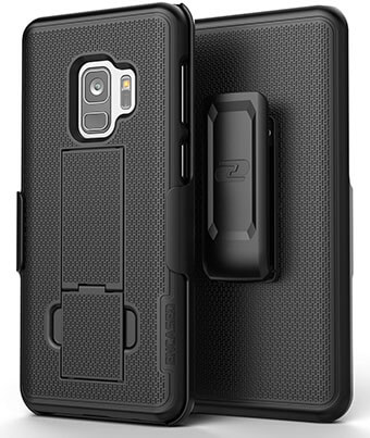 Encased Samsung Galaxy S9 Belt Clip Case, Encased Slim Fit Holster Shell