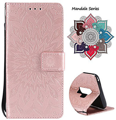 LuckChungTech Samsung Galaxy S9 Plus Leather Wallet Case