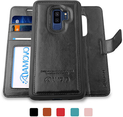 AMOVO Galaxy S9 Plus Wallet Case