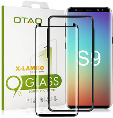 OTAO 3D Curved Dot Matrix Samsung S9 Tempered Glass Screen Protector