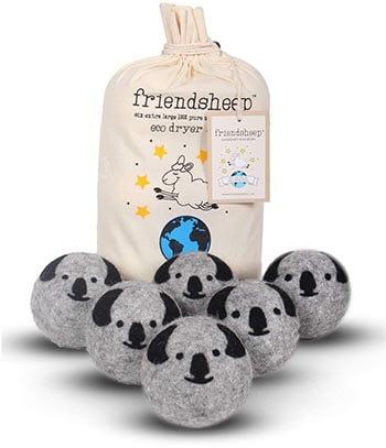 Friendsheep Koala Organic Wool Dryer Balls Handmade