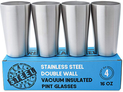 Real Deal Steel Double Wall Vacuum Copper Insulated Metal Cups