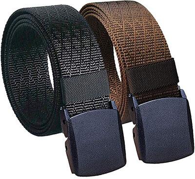HoananMens Nylon Tactical Waist Casual Work Metal Web Belt