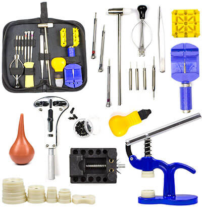 Ziss Watch Tools Kit, Band Link Pin Tool Set with Carrying Case
