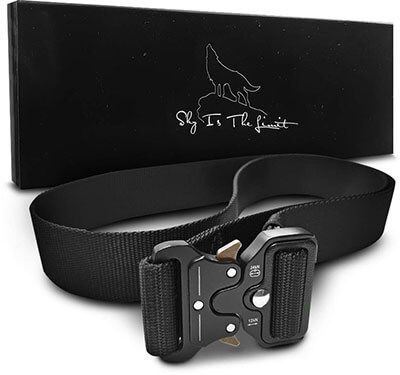 SKYISTHELIMIT Heavy Duty Tactical Belt with Quick Release Metal Buckle