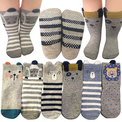 BSLINO Baby Socks 6 Pairs Non-Skid