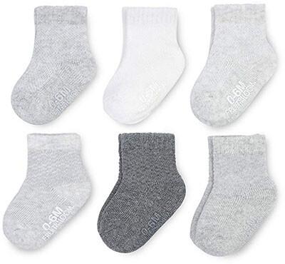 Fruit of the Loom Baby 6-Pack Crew-Length Socks