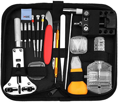 XOOL Deluxe Watch Band Repair Tool Set with Carrying Case
