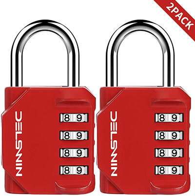 DELSWIN 2 Pack Combination Lock