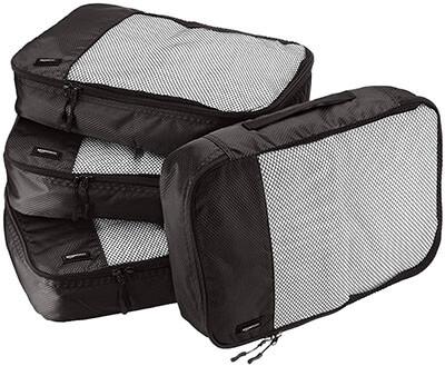 AmazonBasics 4-Piece Medium Packing Cube Set