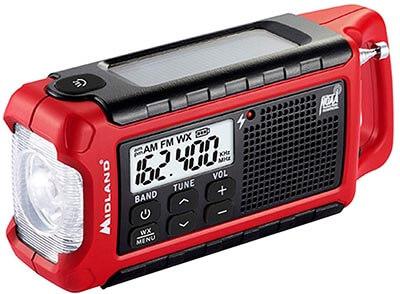 Midland - ER210, Emergency Multiple Power Sources, SOS NOAA Weather Scan Radio