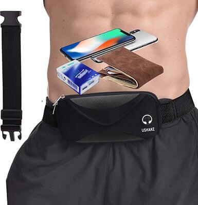 UShake Running Belt Bounce Free Pouch Bag- Extender Belt