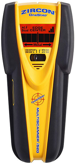 Zircon MultiScanner i520- Stud Finder with Metal & Live AC Wire Detection