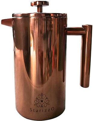Starizzo French Press Coffee Maker with Beautiful Copper Finish