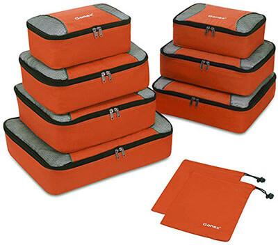 Gonex Packing Cubes 3 Set Luggage Travel Organizers