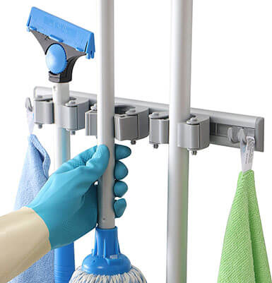 DrDirt Mop and Broom Holder Wall Mounted