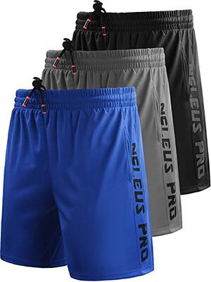 Neleus Men's Workout Running Athletic Shorts