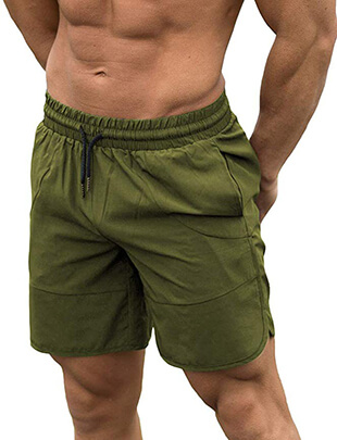 Flyfirefly Men's Gym Fitness Drying Workout Shorts