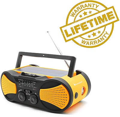 RunningSnail AM/FM Emergency Radio with 4000mAh Battery, Flashlight and Reading Lamp