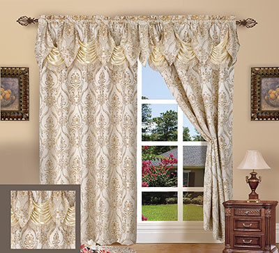 Elegant Comfort Curtain Panel Set