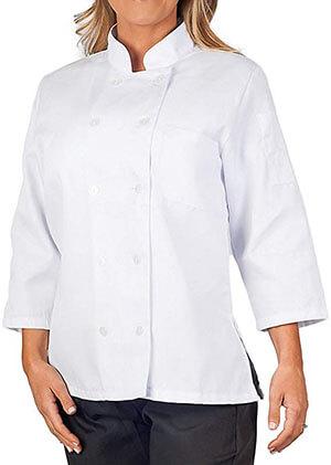 KNG Women's White Classic Chef Coat