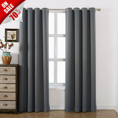 Acelitor AMAZLINEN Blackout Curtains
