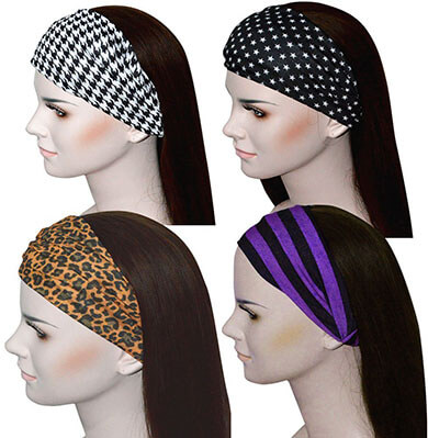 Qing Outdoor Athletic Bandana Headband for Women