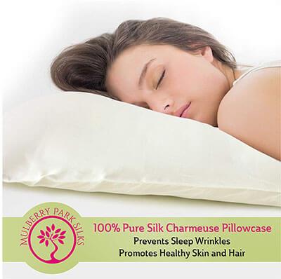 Mulberry Park Silks Pure Silk Pillowcase