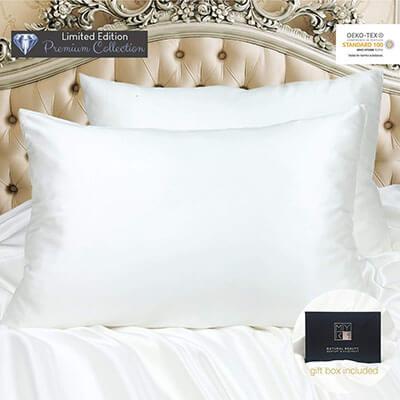 MYK White Silk Pillowcase
