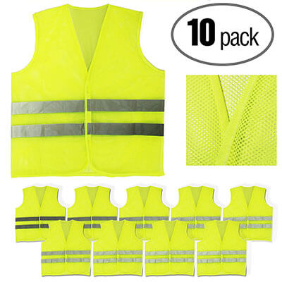 PeerBasics Yellow Reflective Safety Vest