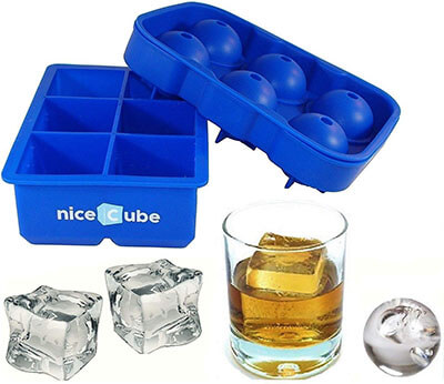 NiceCube Ice Ball Maker and Large Ice Cube Tray