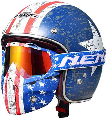 NENKI Motorcycle Open Face Helmet