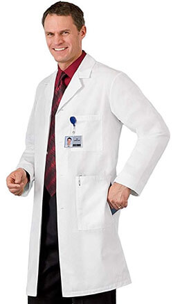 EWC Men's White Lab Coat