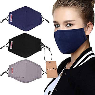 Aniwon 3-Pack Anti Dust Pollution Mask