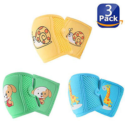 NASHRIO Baby Knee Pads for Crawling Elbows and Legs Adjustable Straps