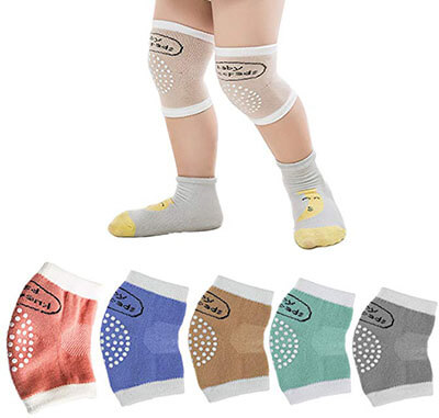 BONANA Crawling Anti-Slip Kneepads Cotton Leg Warmers