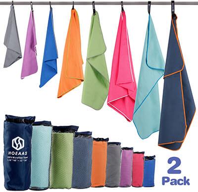 HOEAAS Microfiber Sports Travel Towel Set