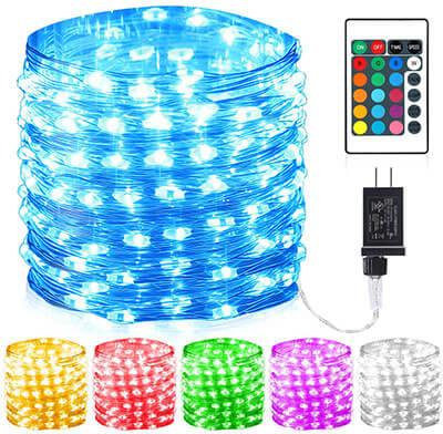 GDEALER 100 Led 16-Colors String Lights