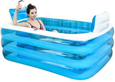 PPBathtub XL Blue Color Inflatable Bathtub