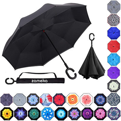 Z ZAMEKA Double Layer Inverted Umbrella