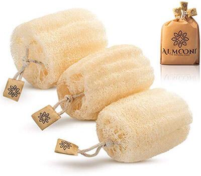 ALMOONI Egyptian Shower Loofah Sponge