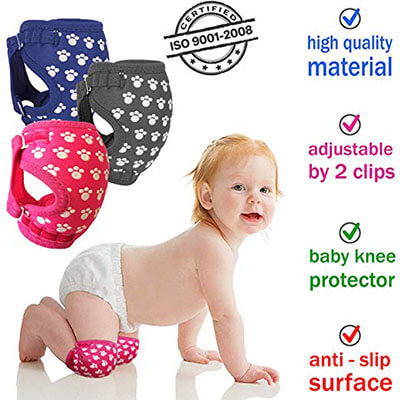 Sevi Baby Professional Baby Knee Pads for Crawling, Breathable, Unisex