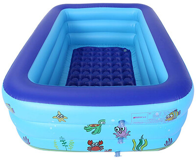Lcyus Large Kids Inflatable Swimming Pool