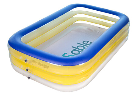 Sable Inflatable Pool, Rectangular Pool for Ages 3+