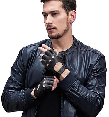 GSG Dance Gloves Women's Fingerless Driving Leather Gloves