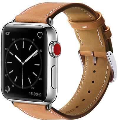 MARGE PLUS Compatible Genuine Leather Replacement Band