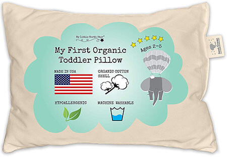 My Little North Star Organic Toddler Pillow