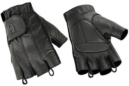 Hugger Affordable Men's Gel-Padded Palm Fingerless Motorcycle Gloves