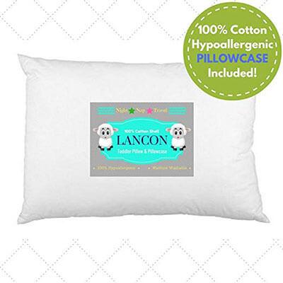 LANCON Kids Pillow and Toddler Pillowcase
